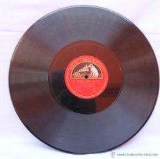 Discos de pizarra: LA VOZ DE SU AMO DISCO DE GRAMOFONO LA MARSEILLAISE Y LOS DOS GRANADEROS POR MARCEL JOURNET. Lote 39910407