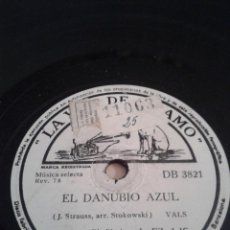Discos de pizarra: DISCO GRAMOFONO - EL DANUBIO AZUL- Y CUENTOS DE LOS BOSQUES DE VIENA -. Lote 39995251