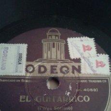 Discos de pizarra: DISCO GRAMOFONO DE EL GUITARRICO- ( JOTA-) Y LA LINDA TAPADA-( CANCION DE EL GITANO ). Lote 39995357