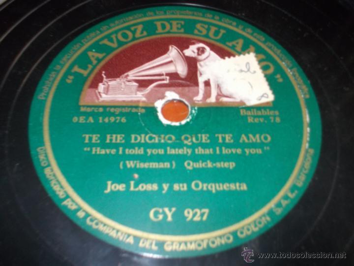 DISCO LA VOZ DE SU AMO SENTIMENTAL Y TE HE DICHO QUE TE AMO (Música - Discos - Pizarra - Jazz, Blues, R&B, Soul y Gospel)