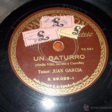 Discos de pizarra: DISCO PARLOPHON COPOS DE NIEVE EN TU CARA Y UN BATURRO. Lote 40036835