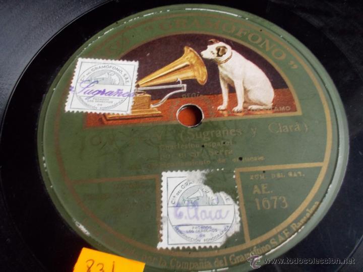 Discos de pizarra: Disco gramofono JOV - JOV (sugrañes y Clara) - Foto 5 - 40036932