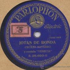Discos de pizarra: DISCO PARA CÉSAR DISCOS JOTAS ARAGONESA CE NAVARRO PARLOPHON B 25693. Lote 40330532