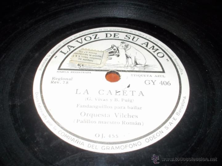 LA CALETA DISCO LA VOZ DE SU AMO (Música - Discos - Pizarra - Flamenco, Canción española y Cuplé)