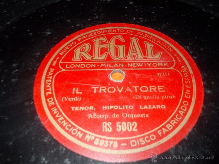 Discos de pizarra: Disco Regal IL trovatore - Foto 3 - 40342129