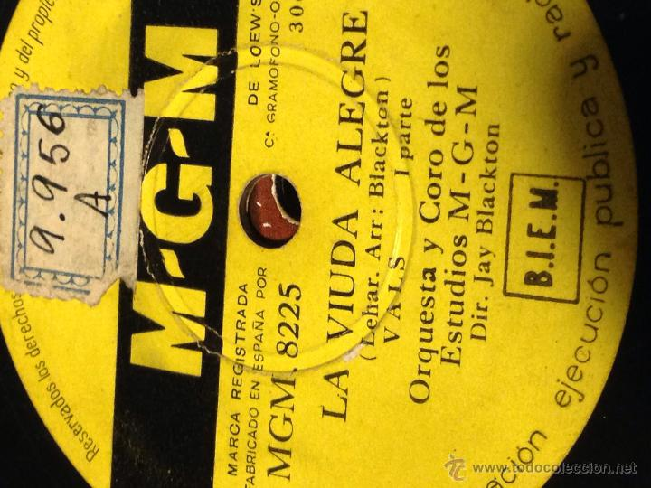 DISCO PIZARRA MGM.LA VIUDA ALEGRE (Música - Discos - Pizarra - Bandas Sonoras y Actores )