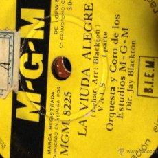 Discos de pizarra: DISCO PIZARRA MGM.LA VIUDA ALEGRE. Lote 40720083