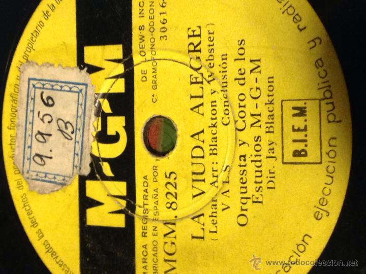 Discos de pizarra: Disco pizarra MGM.la viuda alegre - Foto 2 - 40720083