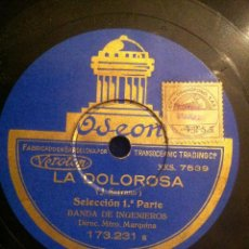 Discos de pizarra: ANTIGUO DISCO PIZARRA LA DOLOROSA.J. SERRANO. 1ª Y 2ª PARTE. BANDA DE INGENIEROS. ODEÓN.. Lote 40759190