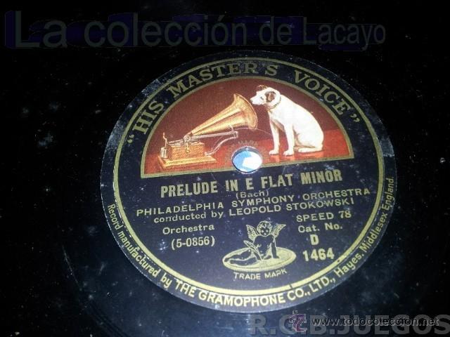 DISCO DE PIZARRA PRELUDE IN E FLAT MINOR BACH (Música - Discos - Pizarra - Clásica, Ópera, Zarzuela y Marchas)