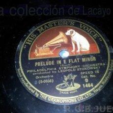 Dischi in gommalacca: DISCO DE PIZARRA PRELUDE IN E FLAT MINOR BACH. Lote 40759889