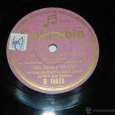 Discos de pizarra: ANTIGUO DISCO DE PIZARRA DE CELIA GAMEZ - SI FAUSTO FUERA FAUSTINA - R. 14073 - ED. COLUMBIA.. Lote 40967145