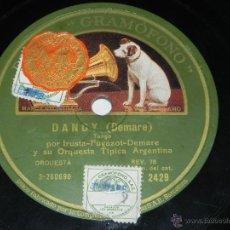 Discos de pizarra: ANTIGUO DISCO DE PIZARRA DE TRÍO ARGENTINO IRUSTA - FUGAZOT - DEMARE - NIÑO BIEN / DANDY - AE 2429 -. Lote 40981139