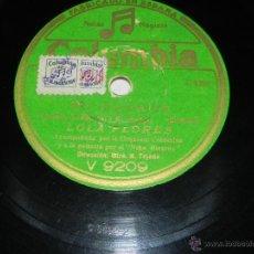 Discos de pizarra: ANTIGUO DISCO DE PIZARRA DE LOLA FLORES - MI CABALLO / COPLAS DE JOSE MARIA - ACOMP. POR LA ORQUESTA. Lote 41000270