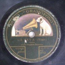 Discos de pizarra: DISCO PIZARRA GRAMOFONO LA VOZ DE SU AMO . ORQUESTA EXCELSIOR . LA JAVA / ORAN. Lote 41123844