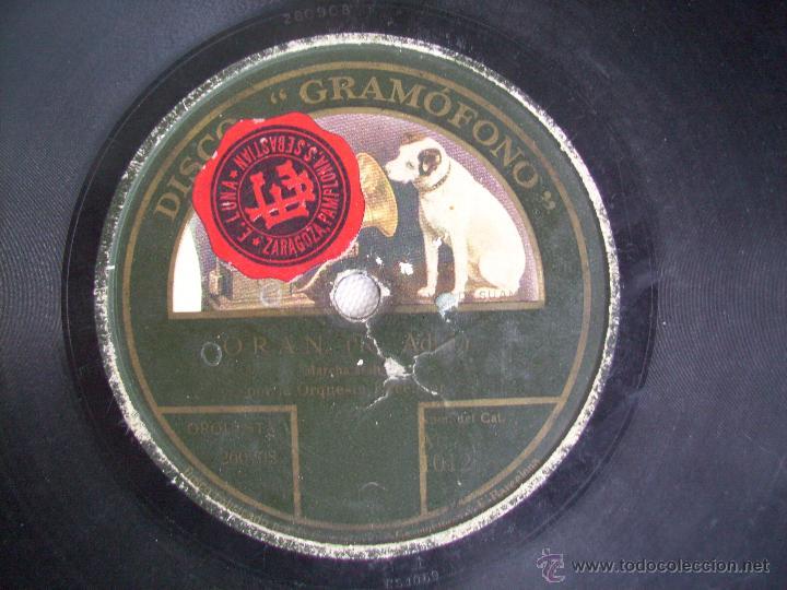 Discos de pizarra: DISCO PIZARRA GRAMOFONO LA VOZ DE SU AMO . ORQUESTA EXCELSIOR . LA JAVA / ORAN - Foto 2 - 41123844