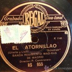 Discos de pizarra: PIZARRA !! BANDA REGIMIENTO WAD-RAS DE MADRID. EL ATORNILLAO. SELLO REGAL 25 CM. *** LEER.. Lote 41239284