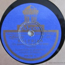 Discos de pizarra: VALLEJO - BULERIAS / FANDANGO DEL GRAN PODER - DISCO PIZARRA 78RPM. Lote 41240203