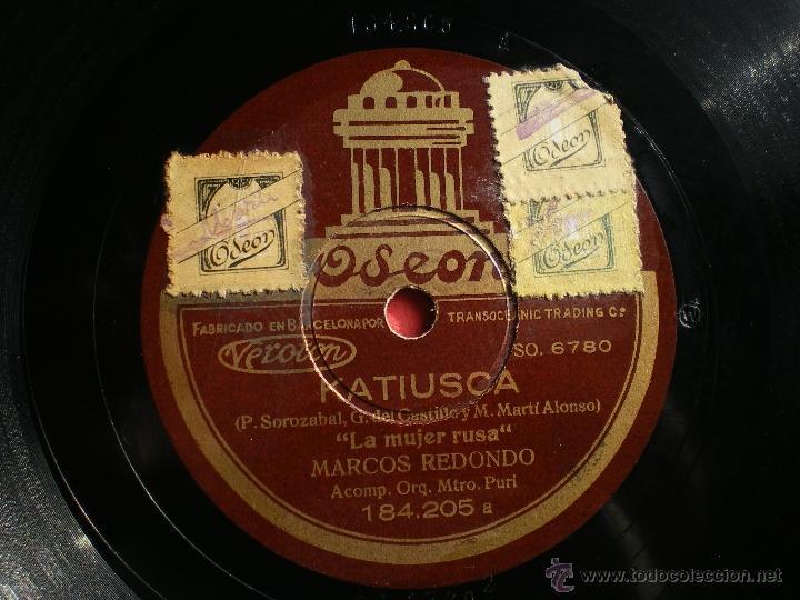 Discos de pizarra: PIZARRA KATIUSKA CALOR DE NIDO MARCOS REDONDO ODEON 184-205 pepeto - Foto 2 - 41341686