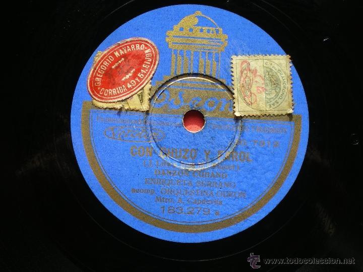PIZARRA ENRIQUE SERRANO / CON CHUZO Y FAROL - ANDRES 183-279 PEPETO (Música - Discos - Pizarra - Solistas Melódicos y Bailables)