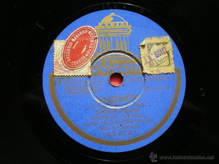 Discos de pizarra: PIZARRA ENRIQUE SERRANO / CON CHUZO Y FAROL - ANDRES 183-279 PEPETO - Foto 2 - 41341993