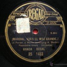 Discos de pizarra: PIZARRA / MARCIAL ERES EL MAS GRANDE - AY TOMASA... RS 1463 PEPETO. Lote 41342592