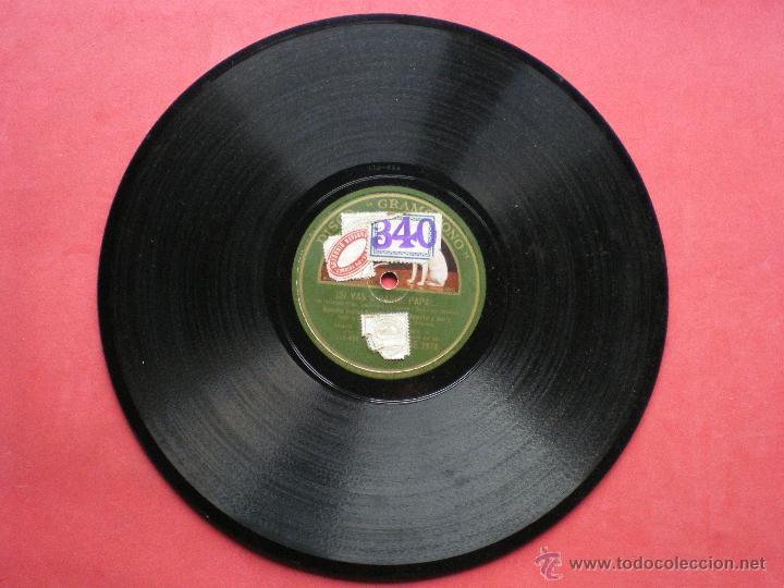 PIZARRA / SI VAS A PARIS PAPA - OVACION Y VUELTA BANDA HOTEL NACIONAL DE MADRID AE 2975 PEPETO (Música - Discos - Pizarra - Solistas Melódicos y Bailables)