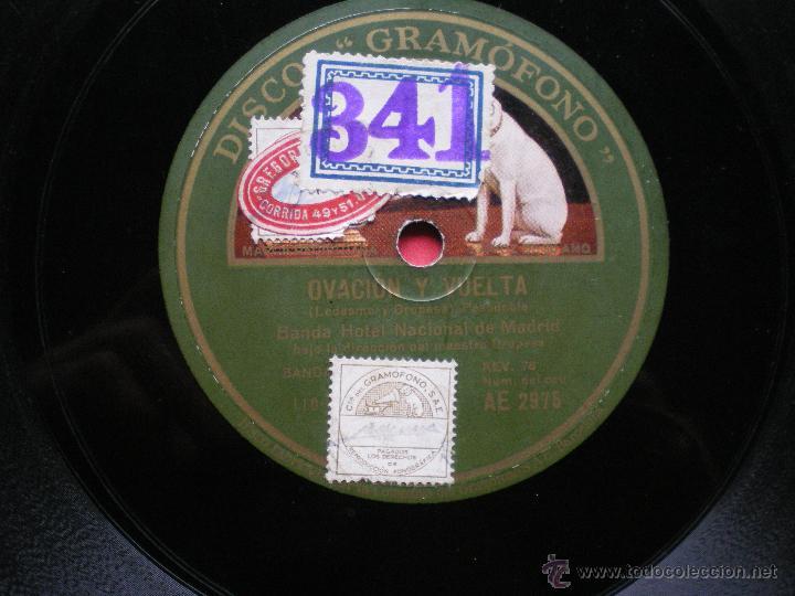 Discos de pizarra: PIZARRA / SI VAS A PARIS PAPA - OVACION Y VUELTA BANDA HOTEL NACIONAL DE MADRID AE 2975 PEPETO - Foto 3 - 41375203