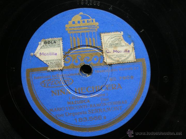 Discos de pizarra: PIZARRA. MARIO VISCONTI/ RAMÓN CORIBAS. NIÑA HECHICERA/ MUJER ADORADA. pepeto - Foto 3 - 41375753