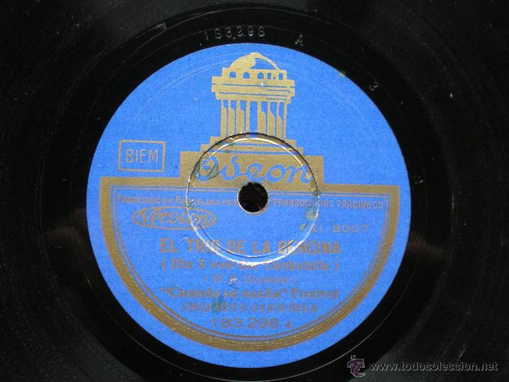 Discos de pizarra: PIZARRA / EL TRIO DE LA BENCINA -CUANDO SE SUEÑA - UN BUEN AMIGO 183.298 PEPETO - Foto 2 - 41376255