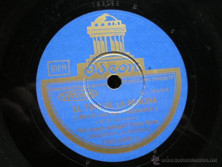 Discos de pizarra: PIZARRA / EL TRIO DE LA BENCINA -CUANDO SE SUEÑA - UN BUEN AMIGO 183.298 PEPETO - Foto 3 - 41376255