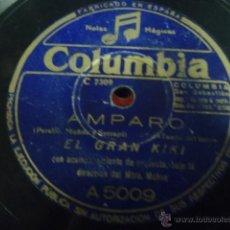 Discos de pizarra: DISCO DE PIZARRA AMPARO EL GRAN KIKI,EL TABERNERO X. Lote 41385420