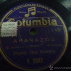 Discos de pizarra: DISCO DE PIZARRA ARAÑAZOS ORQUESTA BONARENSE TANGOS X. Lote 41385587