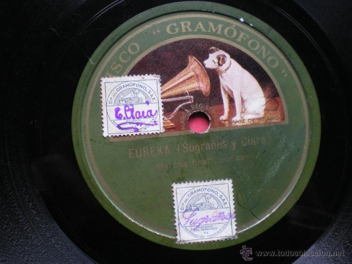 Discos de pizarra: PIZARRA / EUREKA SUGRAÑES Y CLARA MARCHA MILITAR - LOS BOYS PEPETO - Foto 3 - 41402567