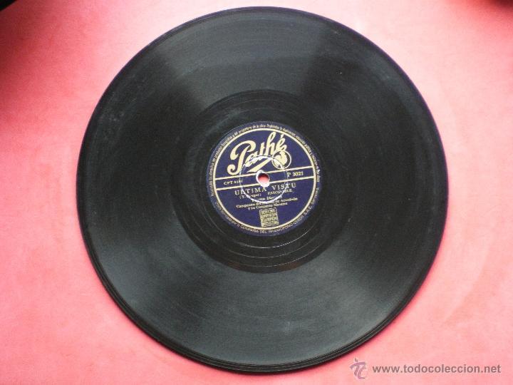 PIZARRA / MONTAGNES DÌTALIE ULTIMA VISTU PATHE P 3021 PEPETO (Música - Discos - Pizarra - Solistas Melódicos y Bailables)