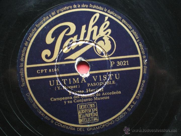 Discos de pizarra: PIZARRA / MONTAGNES DÌTALIE ULTIMA VISTU PATHE P 3021 pepeto - Foto 2 - 41402973