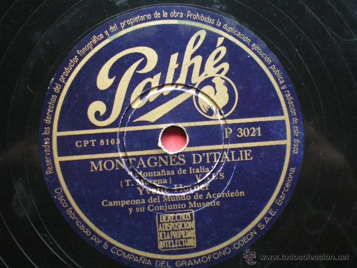 Discos de pizarra: PIZARRA / MONTAGNES DÌTALIE ULTIMA VISTU PATHE P 3021 pepeto - Foto 3 - 41402973