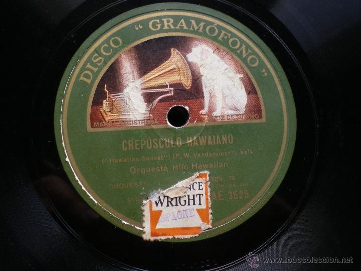 Discos de pizarra: PIZARRA /BELLOS SUEÑOS HAWAIANOS-CREUSCULO HAWAIANO O.HAWAILAM AE 3525 PEPETO - Foto 3 - 41422269