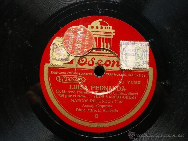 Discos de pizarra: PIZARRA / LUISA FERNANDA MARCOS REDONDO SO 7635 pepeto - Foto 3 - 41422416