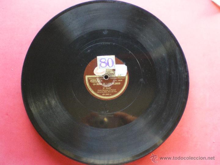 PZARRA / LA BODA DE LUIS ALONSO 30CM 121.029 ODEON PEPETO (Música - Discos - Pizarra - Clásica, Ópera, Zarzuela y Marchas)