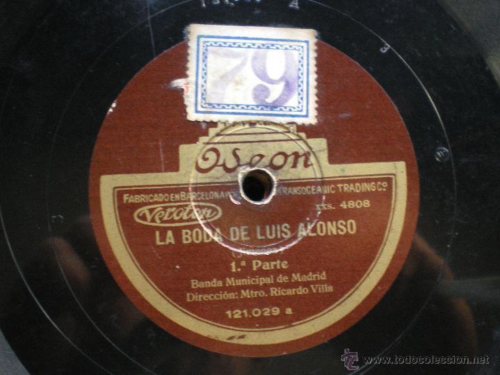 Discos de pizarra: PZARRA / LA BODA DE LUIS ALONSO 30CM 121.029 ODEON pepeto - Foto 3 - 41448347