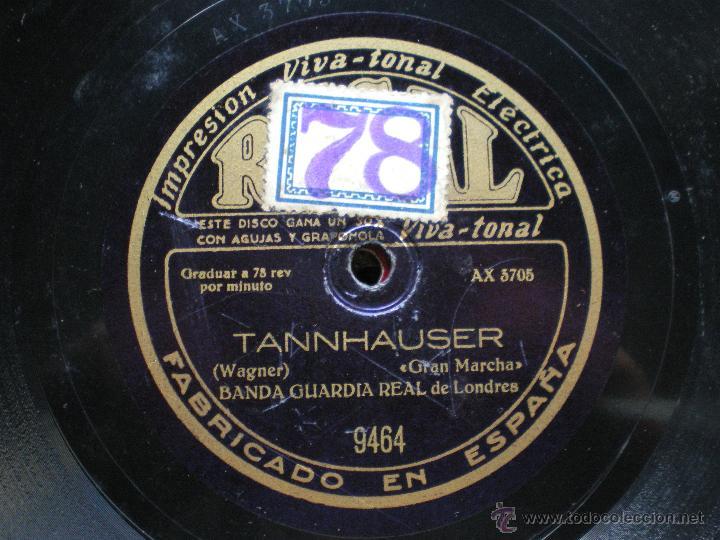 Discos de pizarra: PIZARRA / TANNHAUSER - EL PROFETA BANDA GUARDIA REAL DE LONDRES 30CM 9646 pepeto - Foto 3 - 41448421