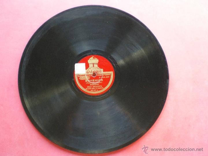 PIZARRA / CONCERTAME Y FINAL- INTERMEDIO 30 CM 121.101 ODEON PEPETO (Música - Discos - Pizarra - Clásica, Ópera, Zarzuela y Marchas)