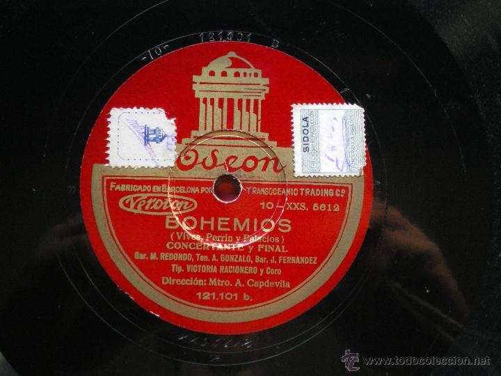 Discos de pizarra: PIZARRA / CONCERTAME Y FINAL- INTERMEDIO 30 CM 121.101 ODEON pepeto - Foto 3 - 41448670