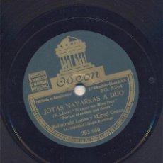 Discos de pizarra: JOTAS NAVARRAS A DUO + JOTAS DEL RONCAL: RAIMUNDO LANAS & MIGUEL CENOZ. Lote 42049208