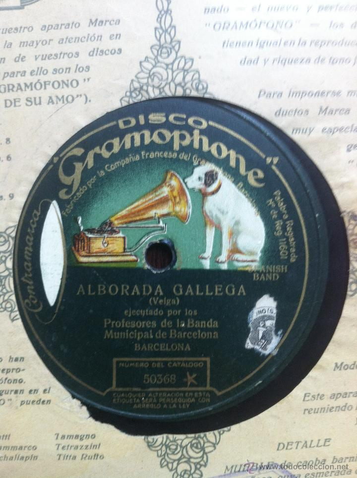 ALBORADA GALLEGA.(VEIGA) PROFES. DE LA BANDA MUNIC. DE BARCELONA.SAINT GEORGES (G. ALLIER)PASODOBLES (Música - Discos - Pizarra - Otros estilos)