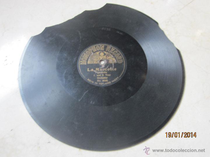 DISCO PIZARRA - LA MASCOTTE - QUADRILLE 1 UND 2 TOUR ORCHESTER - HOMOPHON RECORD NO. 8016 (Música - Discos - Pizarra - Otros estilos)