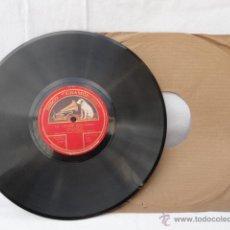 Discos de pizarra: DISCO DE PIZARRA LA VOZ DE SU AMO. LE CYGNE DE SAINT-SÄENZ Y MOMENT MUSICAL DE SHUBERT.. Lote 42284803
