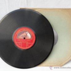 Discos de pizarra: DISCO DE PIZARRA LA VOZ DE SU AMO. CARO MIO BEN DE GIORDANI Y LA CAPINERA DE JULIUS BENEDICT.. Lote 42285008