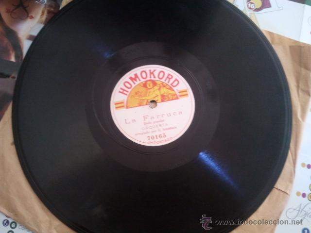 DISCO PIZARRA EL GARROTIN Y LA FARRUCA ORQUESTA C. ARAMBURU HOMOKORD (Música - Discos - Pizarra - Solistas Melódicos y Bailables)